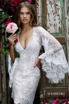 Sherri Hill 32325 White Dress