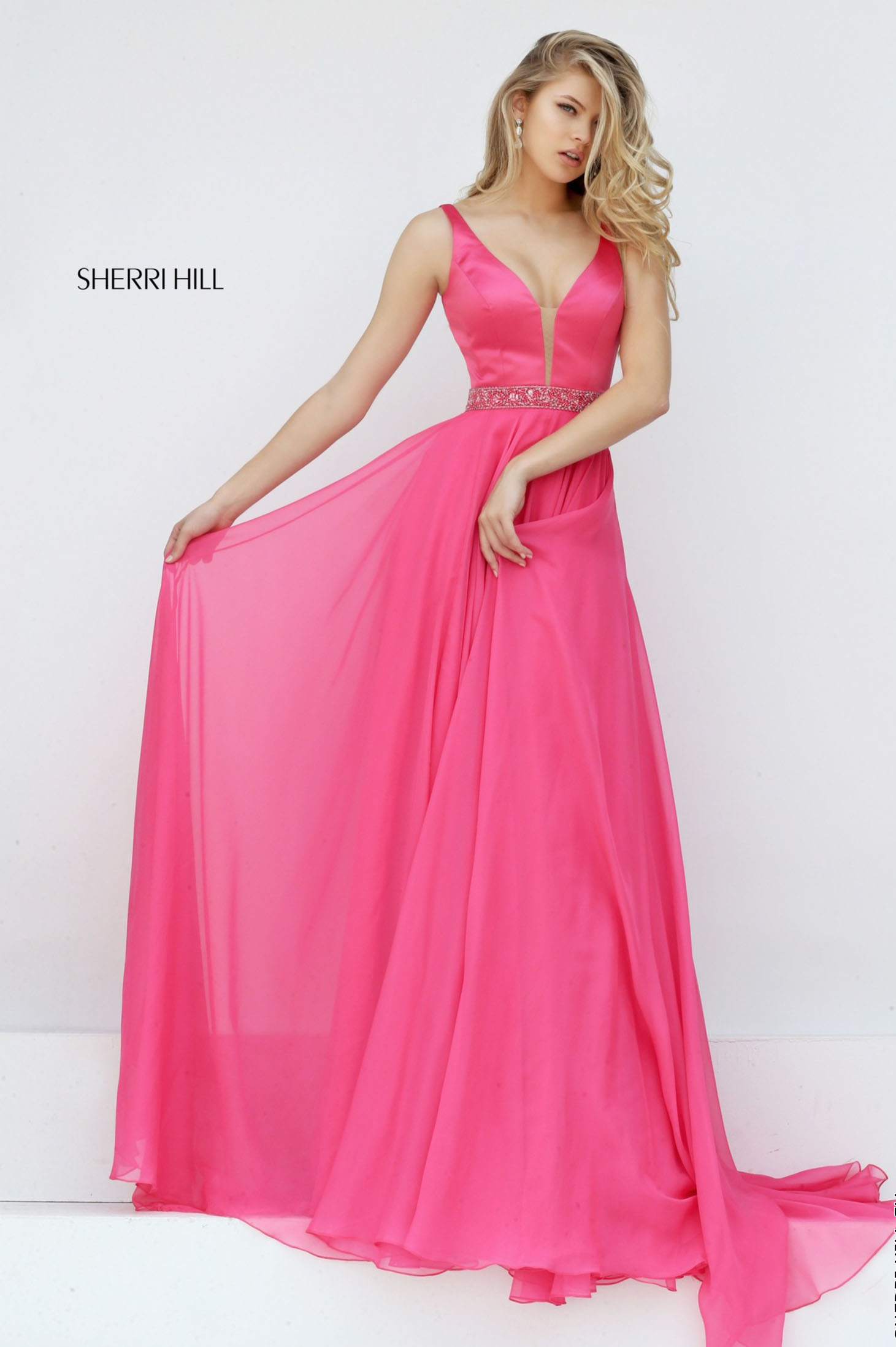 Sherri Hill 50264 Coral Dress