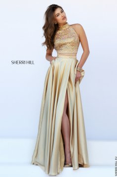 Sherri Hill 11330 Gold Dress