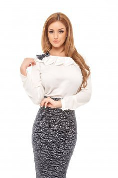 Fofy Personality White Blouse