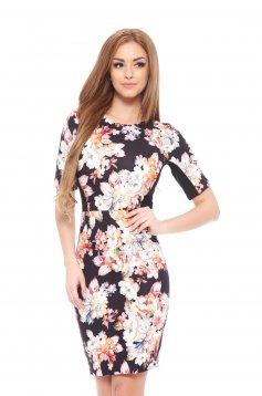 Flower Princess Black Dress