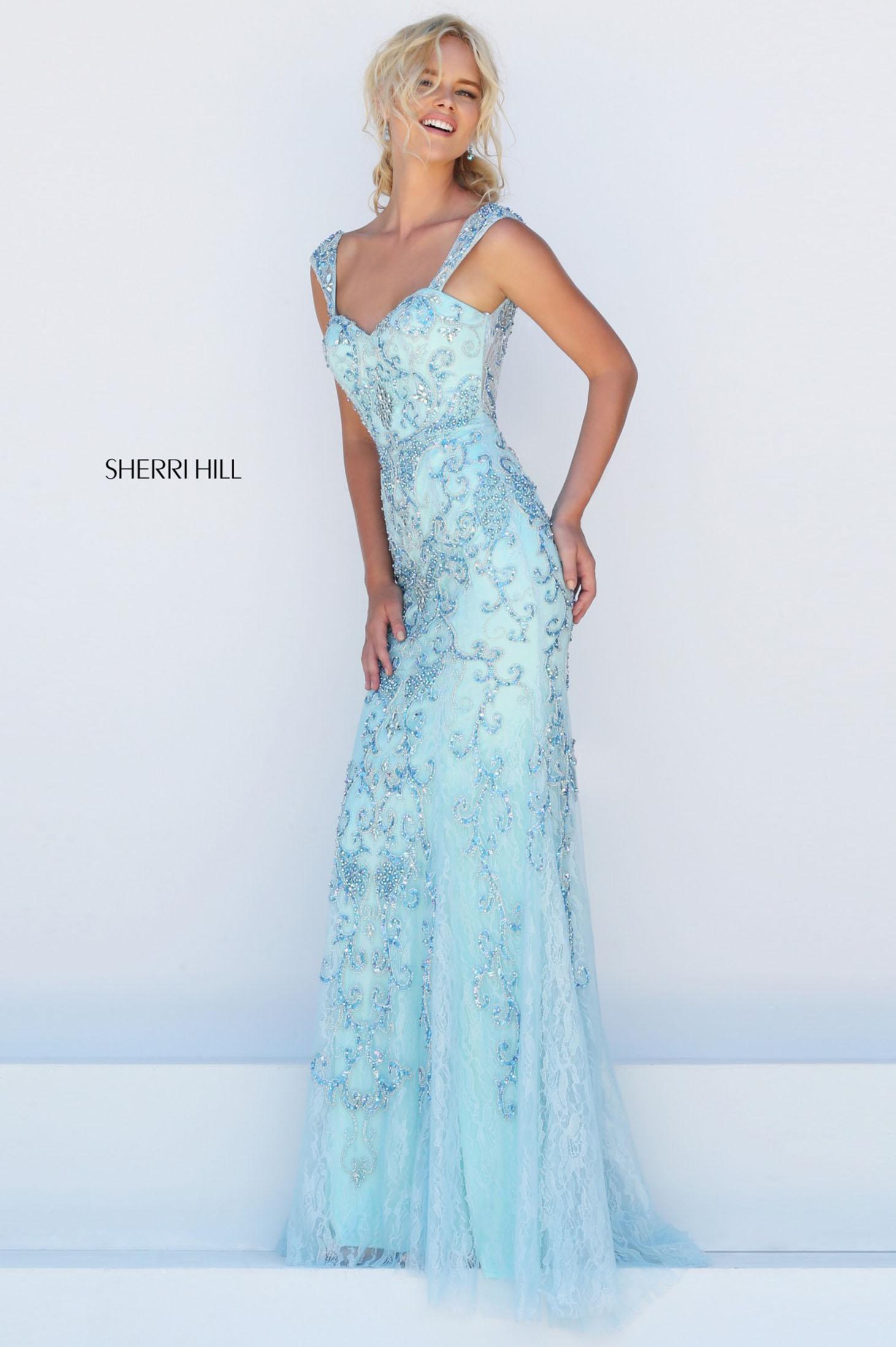 Rochie Sherri Hill 50276 Albastru