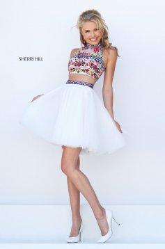 Sherri Hill 50140 White Dress