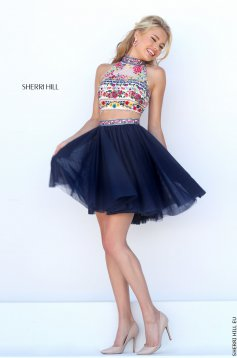 Sherri Hill 50140 DarkBlue Dress