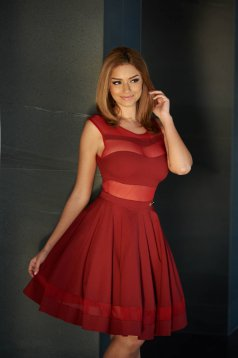 PrettyGirl Glory Burgundy Dress