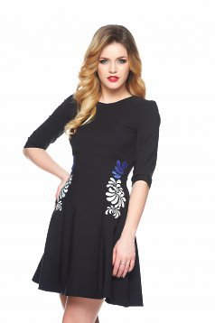StarShinerS Mystic Line Special Black Embroidered Dress
