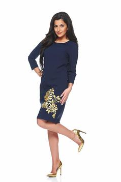 StarShinerS Mystic Line Prestige DarkBlue Embroidered Dress