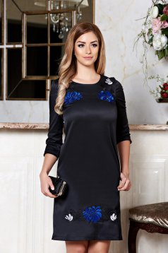 StarShinerS Mystic Line Glamour Black Embroidered Dress