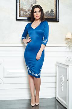 StarShinerS Mystic Line Charm Blue Embroidered Dress