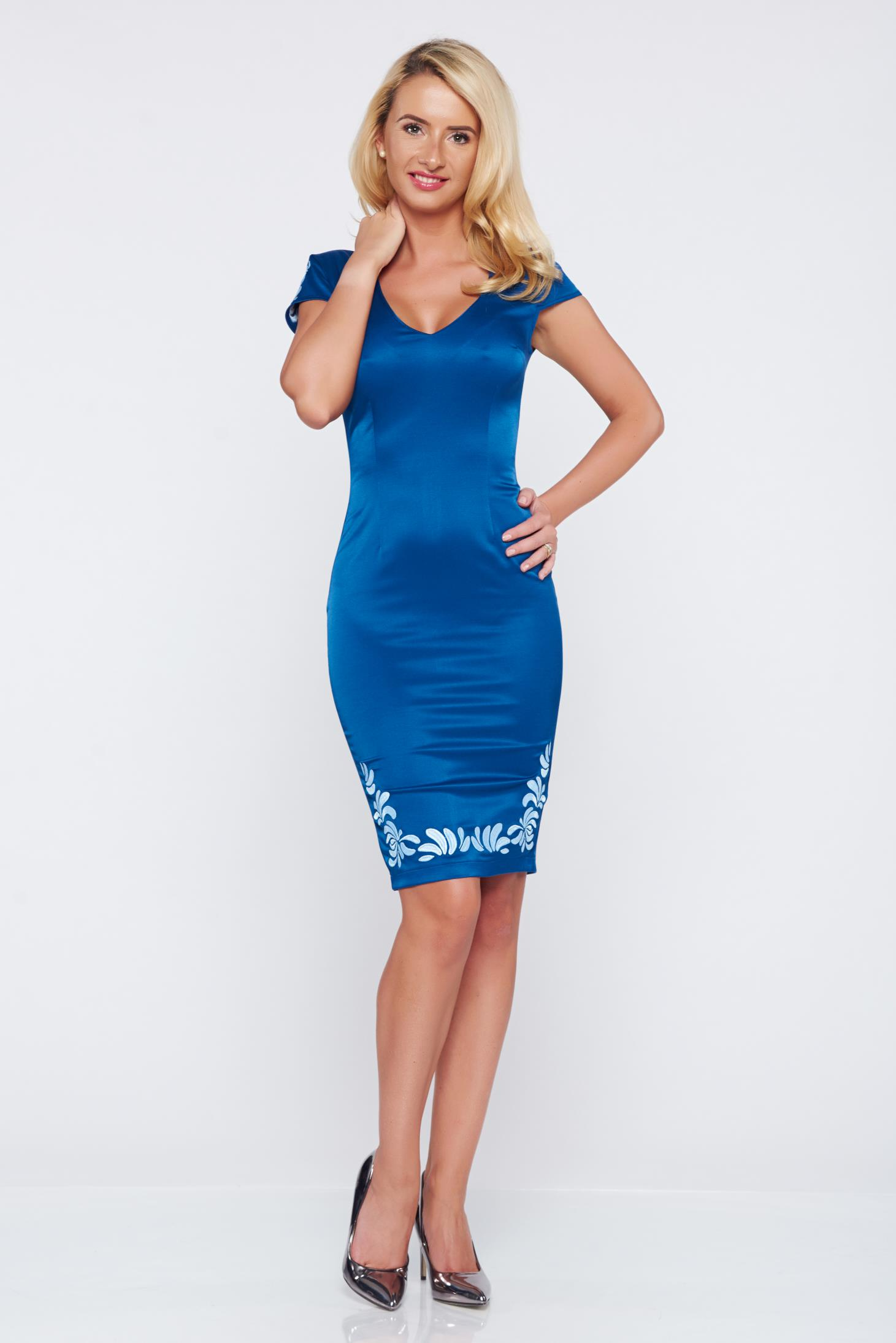 Rochie StarShinerS Brodata Mystic Line Charm Blue
