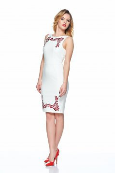 Kleid StarShinerS Embroidered Mystic Line Fabulous Myth Weiss