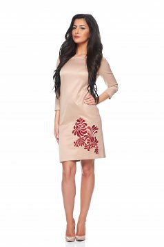 StarShinerS Mystic Line Prestige Cream Embroidered Dress
