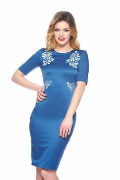 StarShinerS Mystic Line Perfect Portrait Blue Embroidered Dress