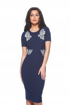 StarShinerS Mystic Line Perfect Portrait DarkBlue Embroidered Dress