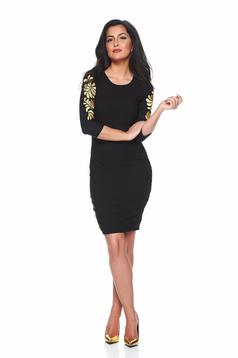 StarShinerS Mystic Line Reverie Black Embroidered Dress