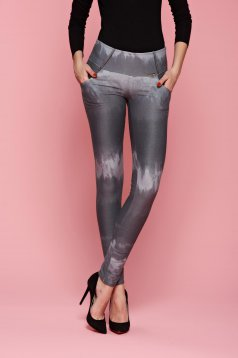 PrettyGirl Waterfall Grey Tights
