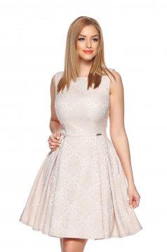 PrettyGirl Special Touch Cream Dress