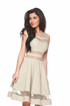 PrettyGirl Glory Cream Dress