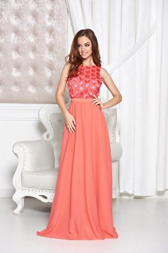 StarShinerS Irresistible Allure Coral Dress