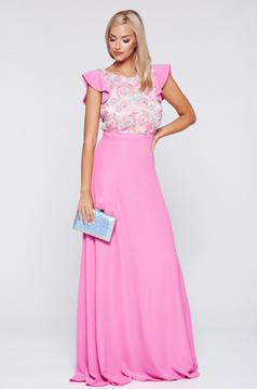 StarShinerS rosa long occasional cloche dress