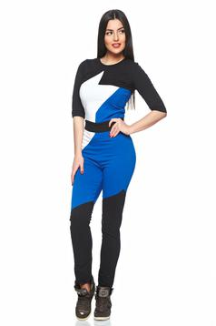 Ocassion Slim Fit Blue Jumpsuit