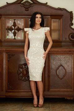 StarShinerS Elegant Delicacy Cream Dress