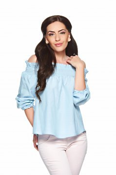 PrettyGirl Legerity Look LightBlue Blouse