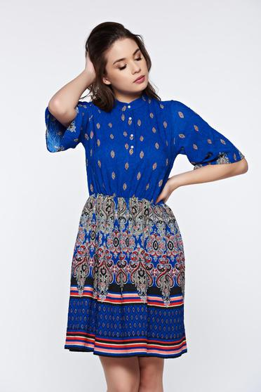 PrettyGirl blue cloche daily dress with 3/4 sleeves