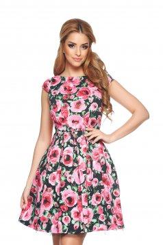 Flower Beauty Black Dress