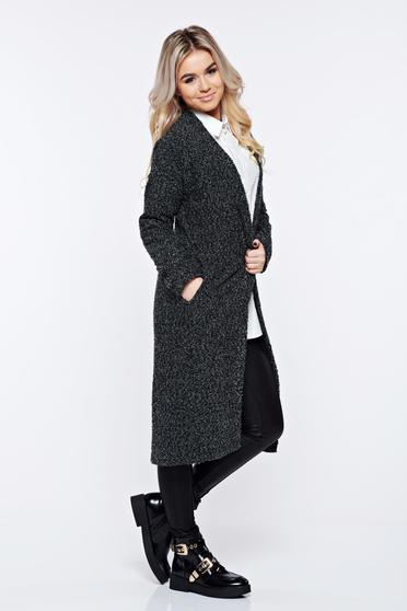 Top Secret black cardigan knitted casual with easy cut