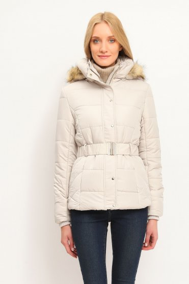 Top Secret peach casual jacket from slicker with faux fur details