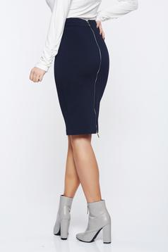 Top Secret darkblue casual pencil skirt with medium waist
