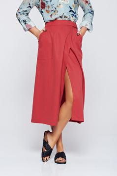 Top Secret red flared skirt with medium waist