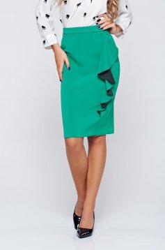 Top Secret green elegant skirt with ruffle details