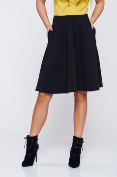 Top Secret black cloche basic skirt with pockets