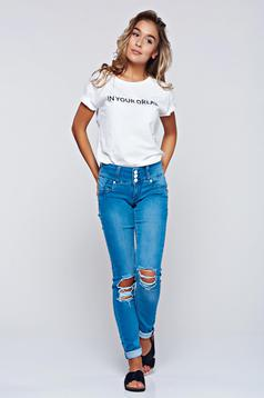 MissQ blue jeans casual with ruptures