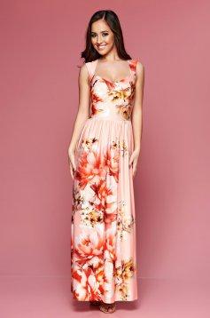 MissQ Cosy Figure Peach Dress