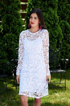 MissQ Fashionable White Dress