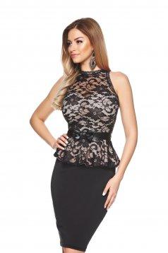 Fofy Sumptuous Black Dress