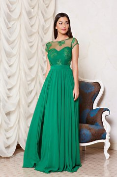 Fame Illusion Green Dress