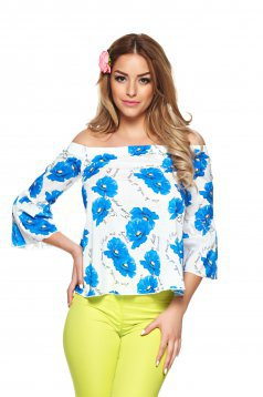 Fofy Street Chic Blue Blouse