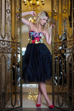 Artista Adornment Black Dress