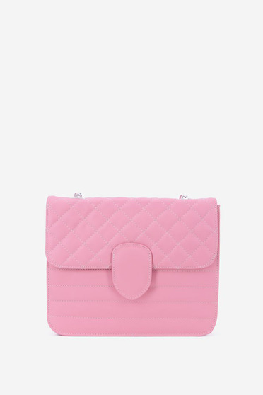 Rosa natural leather bag metalic accessory