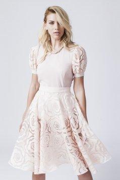 Daniella Cristea Delicacy Phantasm Peach Skirt
