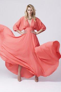 Daniella Cristea Colored Paradise Orange Dress