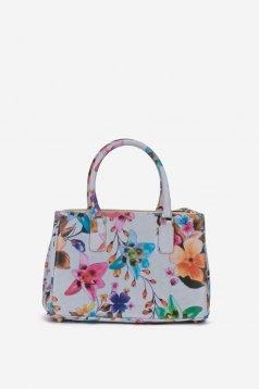 Summer Glam Grey Leather Bag