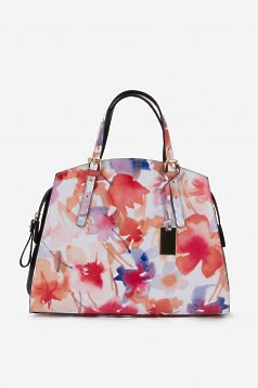 Flower Appeal White Leather Bag