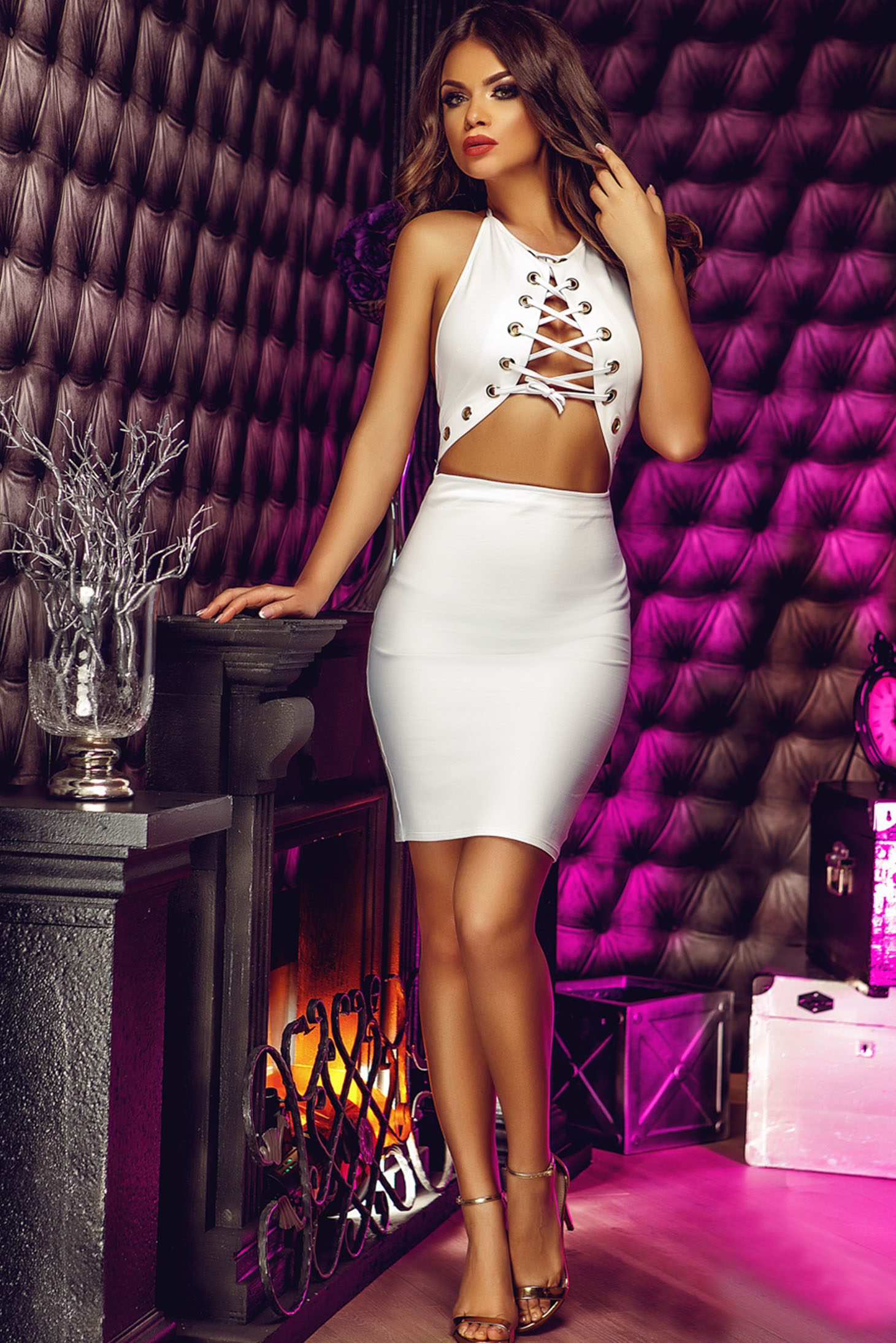 Rochie Inciting Look White