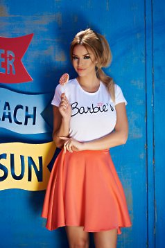 T-Shirt StarShinerS Embroidered Sugar Babe Sunway Weiss