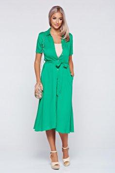 Top Secret green dress daily cloche airy fabric